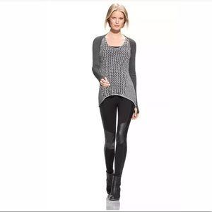 CAbi #488 Tape Yarn Knit Sleeveless Sweater Sz M.